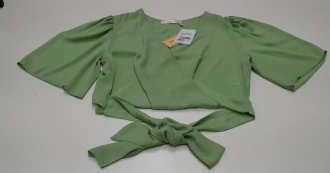 Blusa Verde Menta Trançada