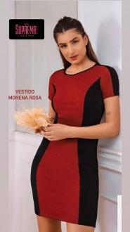 Vestido Curto Decote Redondo Morena Rosa