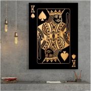 CARTAS Rei Preto e Dourado - Tela Única
