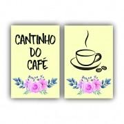 Kit Cantinho do Café Creme  - 2 telas