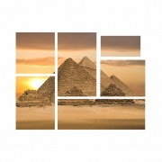 Kit de Quadros Pirâmides de Gizé Luxo  - Kit 6 telas