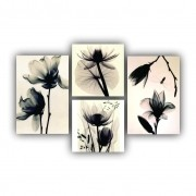 Kit Flores Delicadas - 4 telas