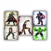 Kit Heróis Marvel  - 5 telas