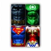 Kit Heróis Minimalista- 4 telas
