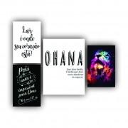 Kit Ohana Família - 4 telas
