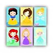 Kit Princesas Menina Infantil - 6 telas