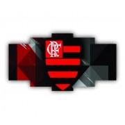 Mosaico Decorativo Flamengo Cor Vibrante - 5 Telas