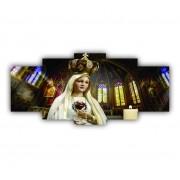 Mosaico Nossa Senhora de Fátima - Kit 5 telas