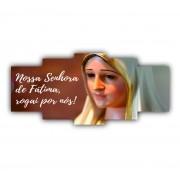 Mosaico Nossa Senhora de Fátima Católico - Kit 5 telas
