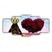 Mosaico Sagrado Coração de Maria - Kit 5 telas