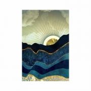 Quadro  Abstrato Azul Montanha - Tela Única