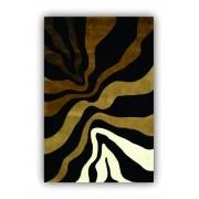 Quadro Abstrato Zebra Moderno Cor Impactante Luxo - Tela Única