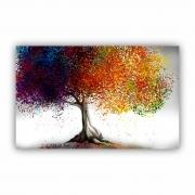 Quadro Arvore Colorida Vida Impactante - Tela Única