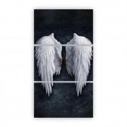 Quadro Asas Lucifer Vertical - Kit 3 telas
