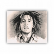 Quadro Bob Marley Caricatura Reggae - Tela Única