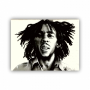 Quadro Bob Marley Pintura a Óleo - Tela Única
