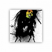 Quadro Bob Marley Street Quadrado - Tela Única