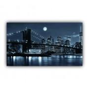 Quadro Brooklyn Noite Luxo - Tela Única