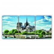 Quadro Catedral de Notre-Dame - Kit 3 telas