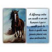 Quadro Cavalos e Seres Humanos -  Kit 2 telas