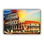 Quadro Coliseu Cor Impacto Luxo - Tela Única