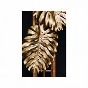 Quadro Costela de Adão Preto e Dourado 1 - Tela Única