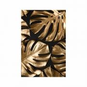 Quadro Costela de Adão Preto e Dourado 3 - Tela Única