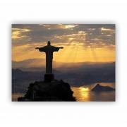 Quadro Cristo Redentor Amanhecer Luxo - Tela Única