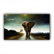 Quadro Elefante Power Intense Luxo - Tela Única