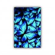 Quadro Jardim de Borboletas Azul Cor Impactante - Tela Única