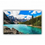 Quadro Lago Montanhas Natureza - Tela Única