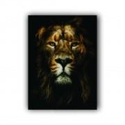 Quadro Leão da Tribo de Judá Rei Vertical  - Tela Única