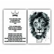 Quadro Leão Branco Tu és O Deus Desta Terra -  Kit 2 telas