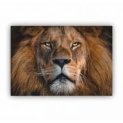 Quadro Leão King Horizontal - Tela Única