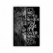 Quadro Leão Motivacional Frase 2 - Tela Única