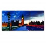 Quadro Londres Luxo - Kit 3 telas
