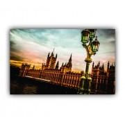 Quadro Londres Luxo Vintage - Tela Única