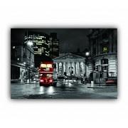Quadro Londres Noite Movimento - Tela Única