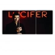Quadro Lucifer Seriado Netflix - Kit 3 telas