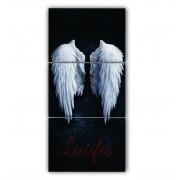 Quadro Lucifer Vertical - Kit 3 telas