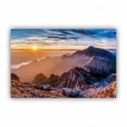Quadro Montanhas Ensolaradas Neve Luxo - Tela Única