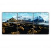 Quadro Montanhas Inverno - Kit 3 telas
