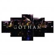 Quadro Mosaico Seriado Netflix Gothan - 5 Telas