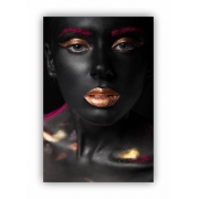 Quadro Mulher Black and Pink Luxo - Tela Única