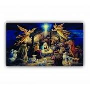 Quadro Nascimento de Jesus Presépio - Tela Única