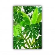 Quadro Natureza Folhas Verdes - Tela Única