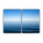 Quadro Oceano Azul Intenso Ondas do Mar -  Kit 2 telas