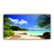 Quadro Praia Deserta Paradisíaca - Tela Única