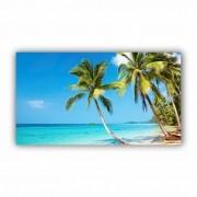 Quadro Praia Dia de Sol Tropical - Tela Única