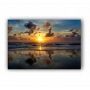 Quadro Praia Entardecer Luxo - Tela Única